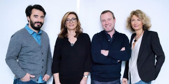 June Marketing (de gauche à droite) Eric Garcia, Laure Benaroya, Franck Mazzacane, Inès Bizot