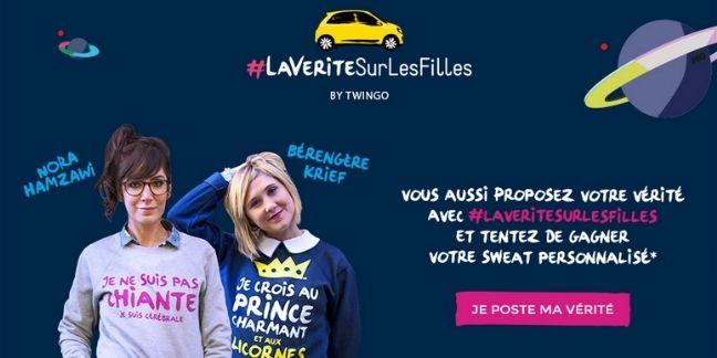 Renault dit la vérité sur les filles pour sa nouvelle Twingo