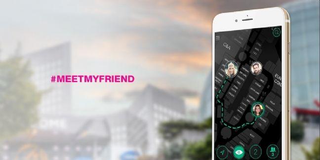 Meet My Friends : géolocalisation sociale dans les centres de shopping