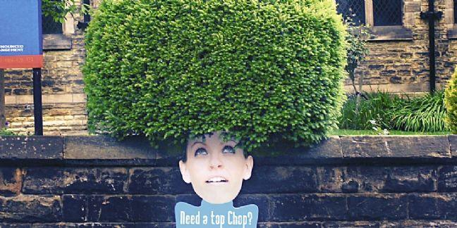 Un exemple de street marketing pour un coiffeur