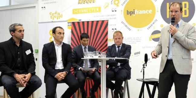 Marc-Olivier Albertini, président de l'US Ivry Handball (à droite), compte son raprochement avec Bpifrance pour trouver de nouveaux partenaires.