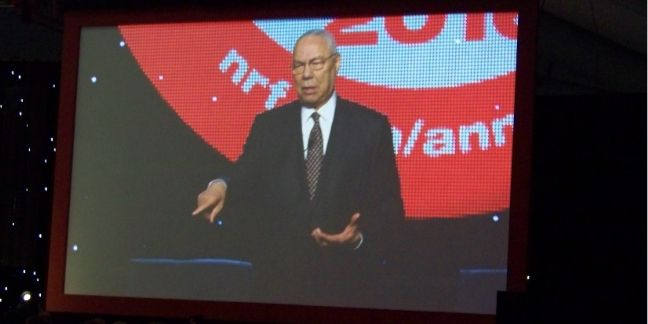 Colin Powell au Big Retail Show, New York.