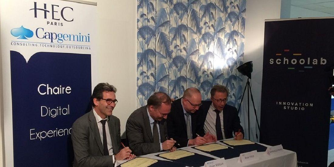 """Capgemini et HEC Paris créent une chaire """"digital experience"""""""