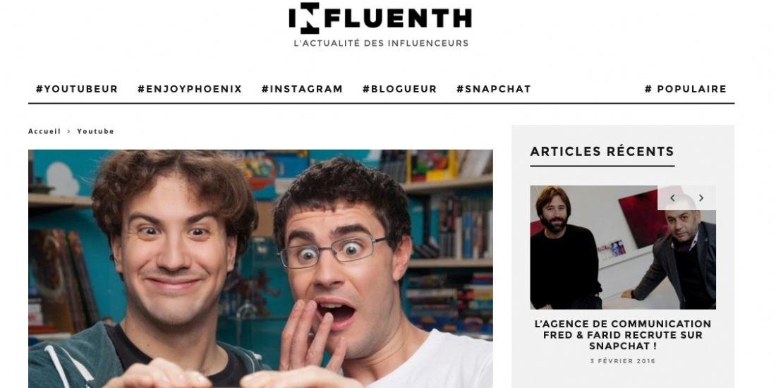 [Social Media] Influenth décrypte l'actualité des influenceurs