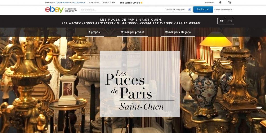Les Puces de Paris Saint Ouen s'ouvrent au monde sur eBay