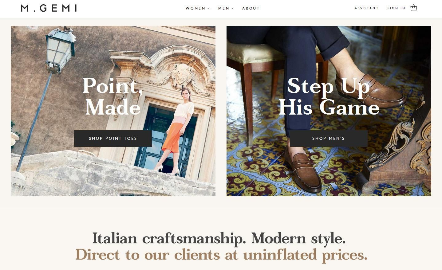 eac7d54db756 M.Gemi : le site de chaussures qui mise sur la 'marque Italie'