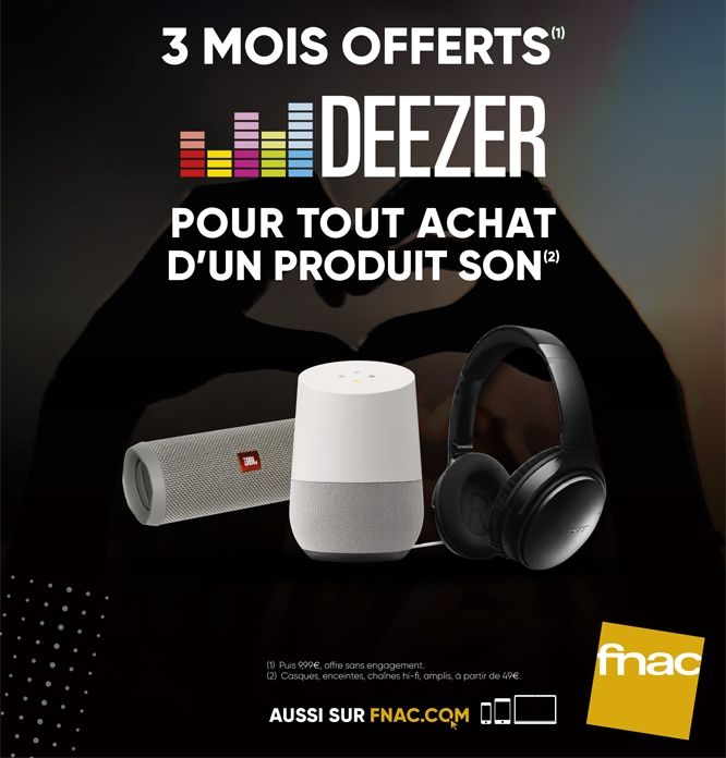 deezer et fnac darty associent leurs savoir faire. Black Bedroom Furniture Sets. Home Design Ideas