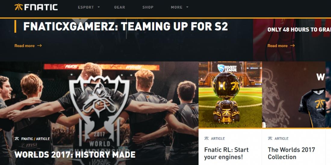 Deezer fait un pas dans l'Esport avec Fnatic