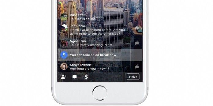 Facebook déploie les coupures publicitaires dans les Live