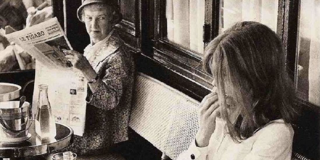 'Le Figaro vs Le Monde', Henri Cartier-Bresson (1968)