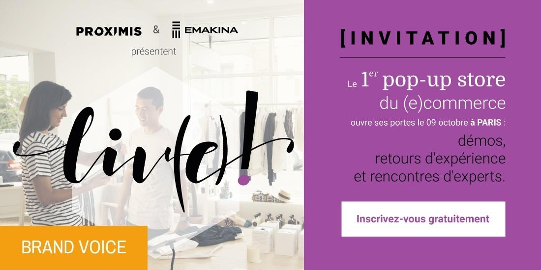 Découvrez liv(e)! le 9 octobre à Paris, le 1er pop-up store du (e)commerce connecté !