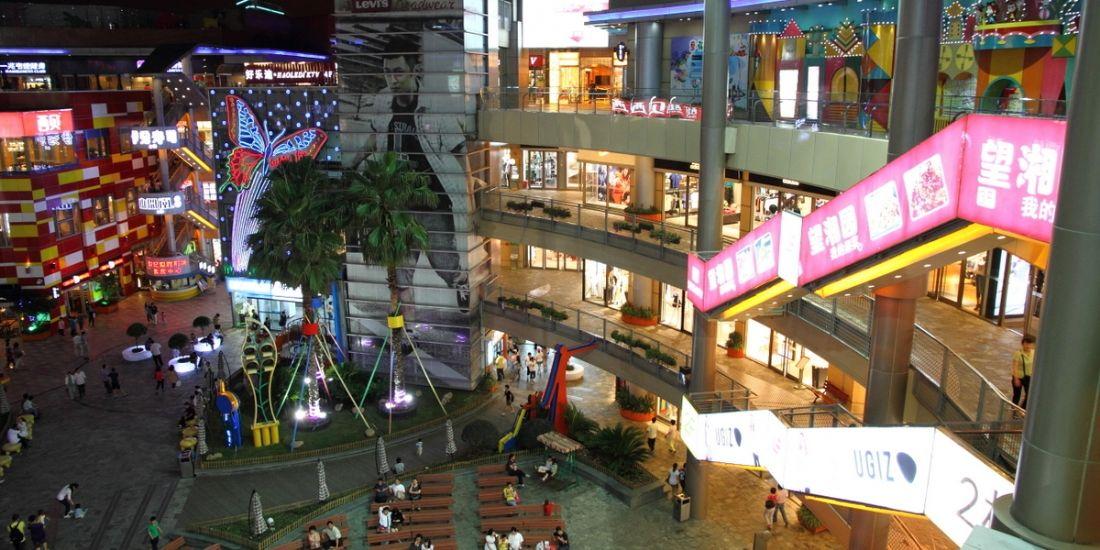 Le Hongyuan mall de Shanghai. Un gigantisme qui ne doit pas n'être dédié qu'à l'acte d'achat.