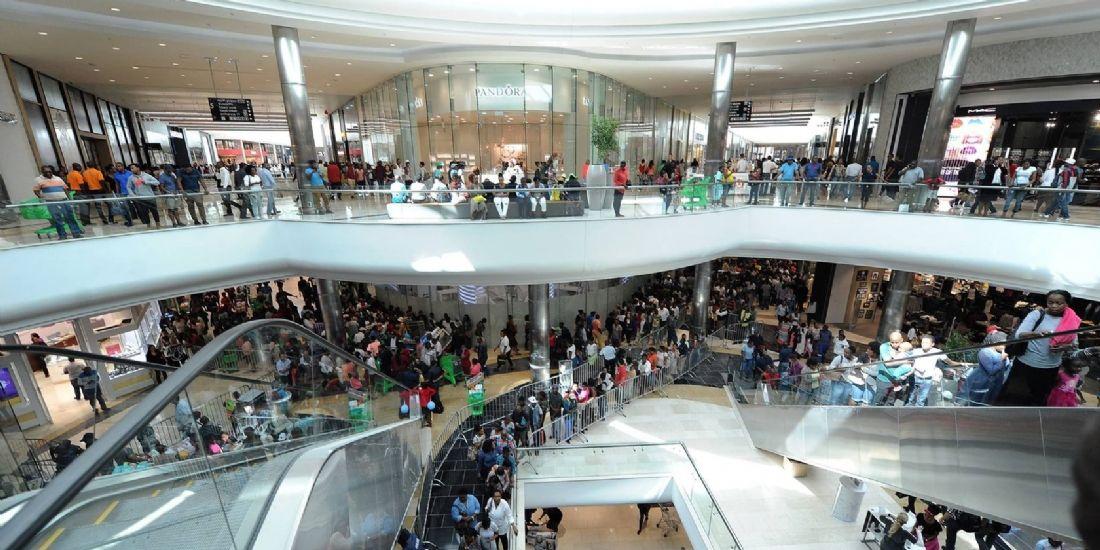 Le Mall of Africa de Johannesburg, le plus grand centre commercial d'Afrique, témoigne de la vitalité du commerce africain en général, et de celui du luxe en particulier.