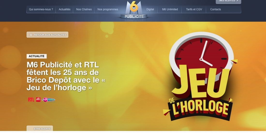 M6 Publicité et RTL fêtent les 25 ans de Brico Dépôt avec 'le jeu de l'horloge'