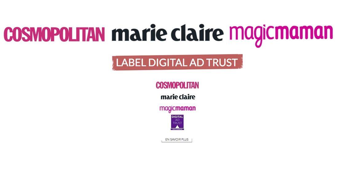 Premières labellisations Digital Ad Trust pour les sites du groupe Marie Claire
