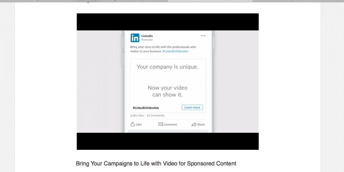 LinkedIn lance la vidéo B2B