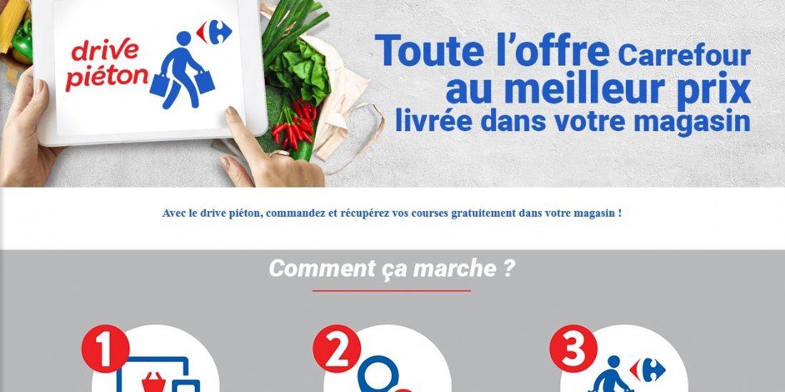 Carrefour inaugure six premiers drive piéton à Paris