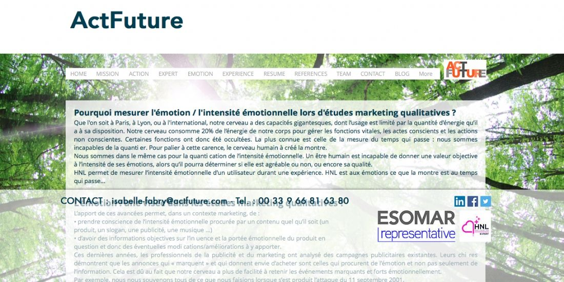 Avec HNL Expert, Actfuture mesure l'impact émotionnel de vos actions marketing