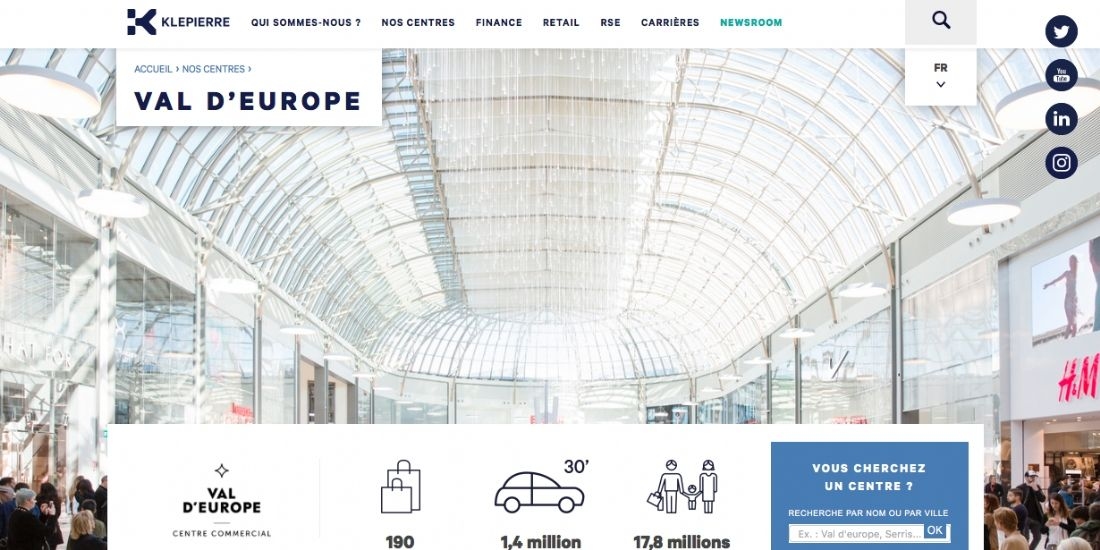 Une machine à mesurer le bonheur des clients à Val d'Europe