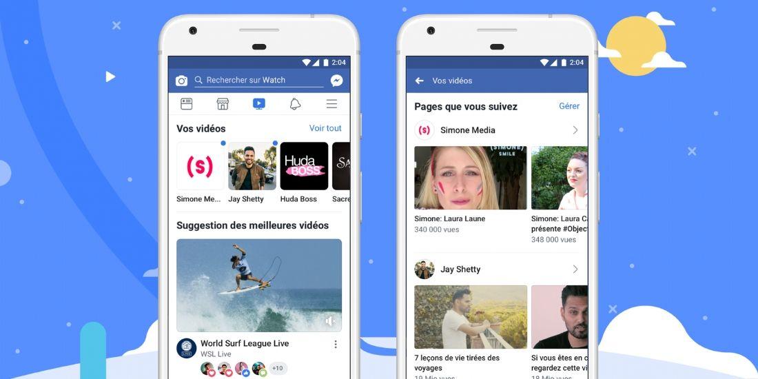 Facebook lance un espace dédié à la vidéo sur sa plateforme