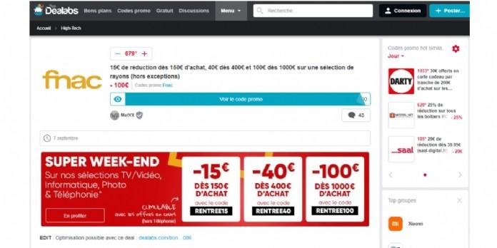 Promotion Comment Fnac Darty Utilise Dealabs A L Approche Du Black Friday
