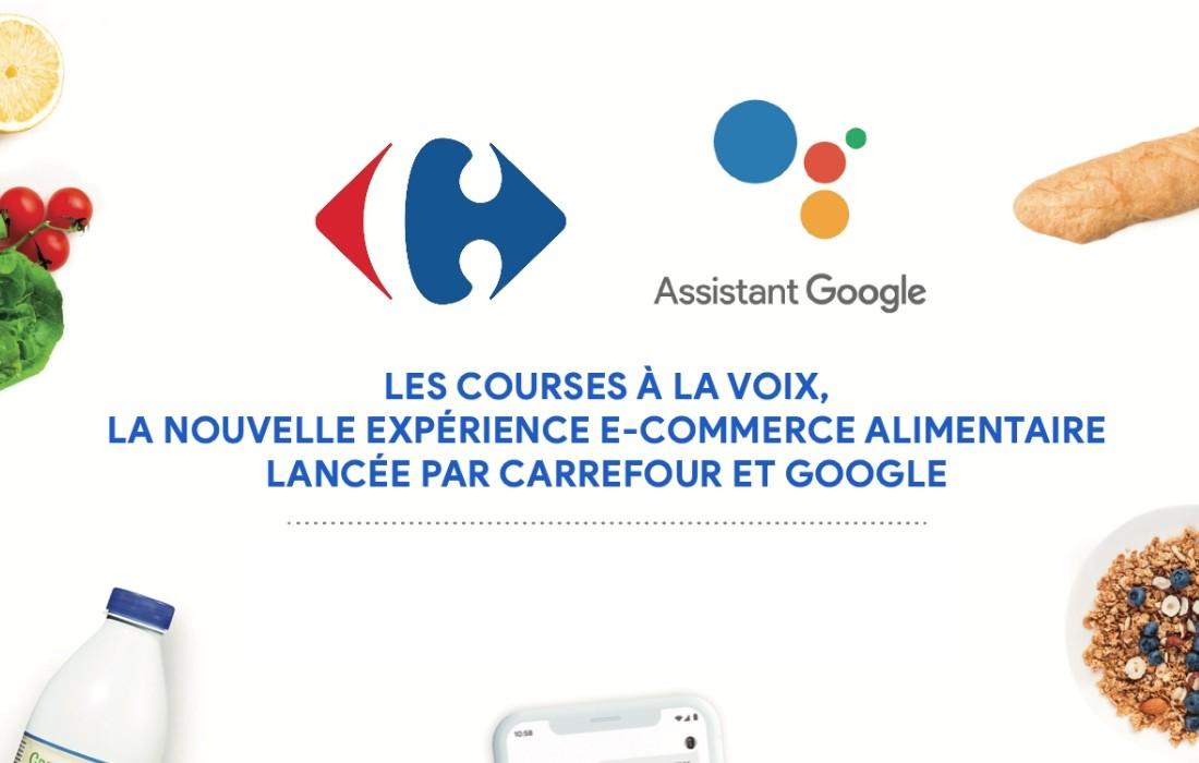 Carrefour propose les courses à la voix avec Google
