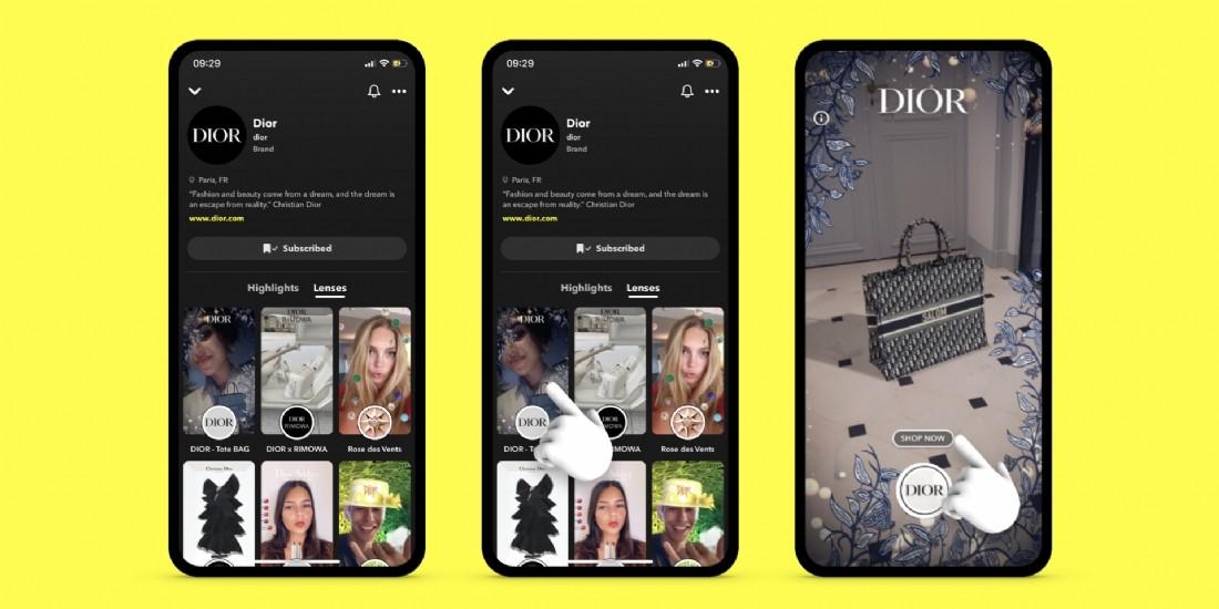 Snapchat lance Brand Profiles