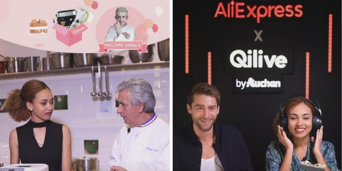 AliExpress combine live streaming et live shopping