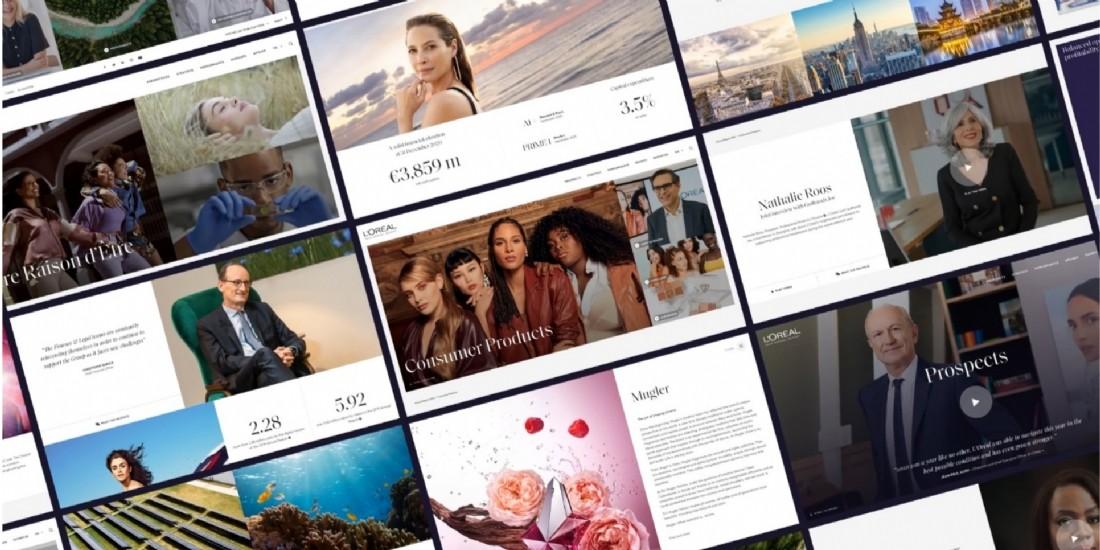 L'Oréal offre une expérience éditoriale inédite pour son rapport annuel